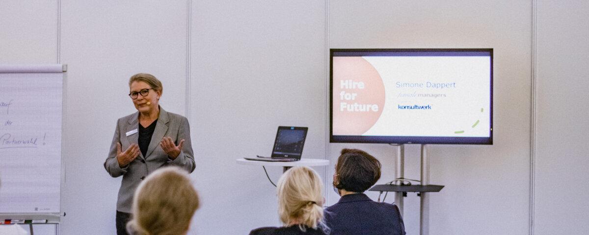 Mit femalemanagers.de auf der herCareer - Vortrag von Simone Dappert