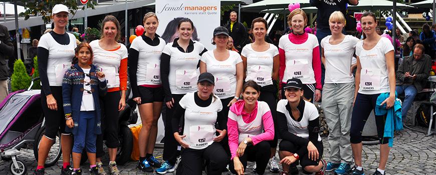 Die Läufer auf dem Women's Run im Gruppenbild