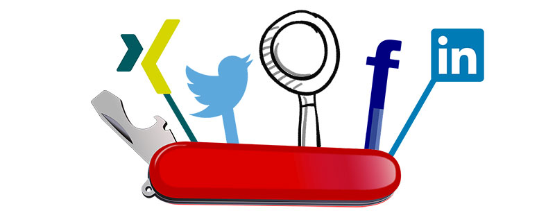 Tipps und Leitfragen für Ihre Strategie zur Personalgewinnung - Schweizer Taschenmesser im Bereich Social Media